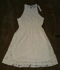 New Lauren Conrad Ivory Garden Blooms Lace Dress Size 2, Fit & Flare NWT, defect