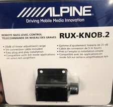 Alpine RUX-KNOB.2 Remote Bass Knob Subwoofer Level Control for Alpine Amplifiers