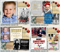 Personalised 10 Pack Of Christmas Cards With Photo + Envelopes Bundle Thank You