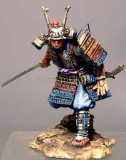 Tin Soldier, top quality, Japanese warrior, Samurai with Katana № 13, 54 mm