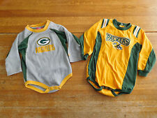 Lot of 2 Green Bay Packers Shirt Bodysuit One Piece 18M 18 Months Toddler