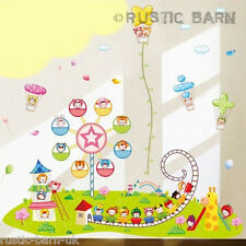 I bambini colorata Fiera Carnevale di Terra Grande Home Decor Wall Sticker Arte Decal