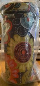 NWT Vera Bradley Flower Shower Baby Bottle Caddy Insulated Drink Holder
