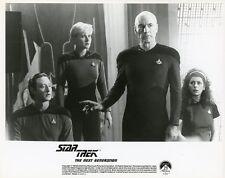 DENISE CROSBY PATRICK STEWART STAR TREK THE NEXT GENERATION CAST 1987 TV PHOTO