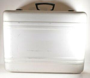 Vintage ZERO HALLIBURTON Aluminum Combination CAMERA GUN CASE Briefcase 24x18x9