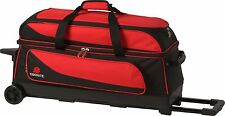 Ebonite Transport 3 Ball Roller Bowling Bag with Wheels Red 5 Year Warranty