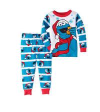 NWT Size 18 month Sesame Street Cookie Monster Christmas Pajamas