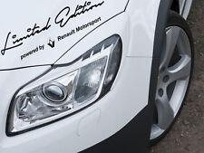 Limited Edition by Renault Motorsport  Auto Aufkleber Sticker Folie Sports Mind