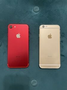 *USED* Red Apple iPhone 7 128gb & Gold Apple iPhone 6 16gb Verizon Bundle