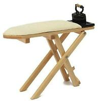 1:12 Scale Wooden Ironing Board Dollhouse Miniature Re-ment Doll Home Scene