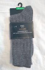 M&S Mens Grey Luxury Cashmere Blend Socks Size 10-12 BNWT RRP £39.50