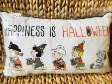 Pottery Barn Kids Happiness is Halloween Pillow Snoopy Peanuts Holiday Decor