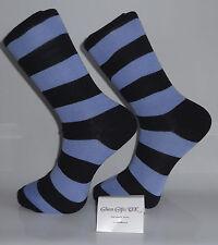 Black and Dark Blue Striped Socks