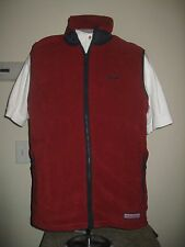"Vineyard Vines Custom Harbor Fleece Vest ""nantucket Ack"" Logo Varsity Red Small"
