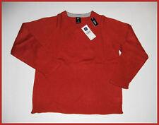 NWT Gap Boys Unisex Orange Lambswool V-Neck Orange Sweater Pullover Size 8 8-10