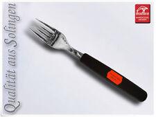 6 x acero inox. Tenedor Tenedor de mesa Solingen Plástico Negro