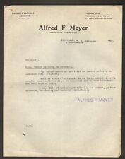 "COLMAR (68) PRODUITS AGRICOLES ""Alfred F. MEYER"" en 1933"