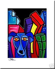 CITY DOG - CONTEMPORARY POP ART Abstract MODERN print FIDOSTUDIO