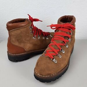 Mens Dunham Brown Leather Suede 11 M Vibram Soles Hiking Mountaineering Boots