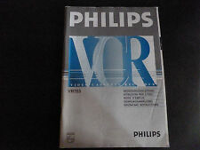 Original Bedienungsanleitung Philips Video Cassette Recorder VR 703