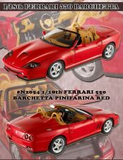 MATTEL N2054 FERRARI 550 BARCHETTA PININFARINA diecast model car red 2000 1:18th