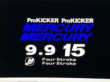 Mercury Outboard Verado Decal Set ProKicker 9.9 or 15hp