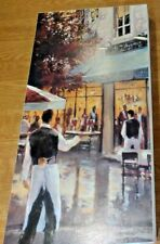 More details for brent heighton canvas print  5th avenue cafe on mounted wood 80 x 40 cm