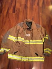 Firefighter Globe Turnout Bunker Coat 50x32  Gold Halloween Costume