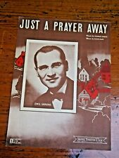 Vtg Sheet Music- Just a prayer Away-Charles Tobias-1924