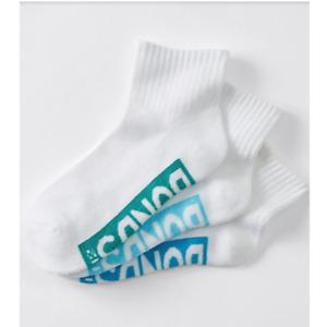 3 Pairs X Bonds Kids Quarter Crew Boys School Sports Socks White Green Blue 05K