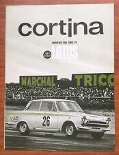 Ford Cortina Lotus Mk1 1963-64 USA Market Foldout Sales Brochure