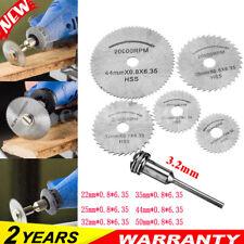 6x Circular Saw Disc Set Dremel Accessory Mini Drill Rotary Tool Wood Cut Blade