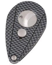XiKAR Xi2 Cigar Cutter Carbon Fiber Look w Free Leather Sheath Lifetime Warranty