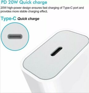 20W PD USB-C Power Adapter Fast Wall Charger For iPhone 12 11 Pro Max 13 X