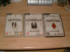 THE ELDER SCROLLS IV OBLIVION + SHIVERING ISLES + KNIGHTS OF THE NINE . PC GAMES