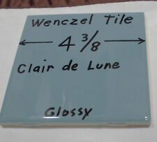 "1 pc. *Blue-Gray* Glossy Ceramic Tile by Wenczel 4-5/16"" *Clair-De-Lume*"