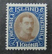 nystamps Iceland Stamp # 185 Mint OG H $48