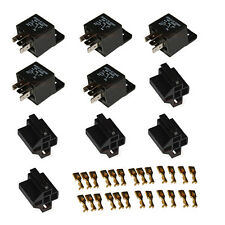 Automotive Changeover ON/OFF Power Relay Socket 40A 12V 5PIN SPDT 6.3 mm - Pack5