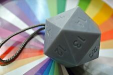 Large D20 Soap - Dice Soap- Handmade Glycerin Soap in Gray with a Rope