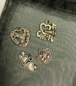 Assorted Silver Charms - 4 piece