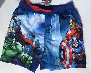 Boys Swim Shorts with Avengers Hero's detail