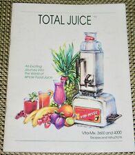 VITA-MIX 3600 & 4000 Recipes and Instructions ~ TOTAL JUICE ~ 1993