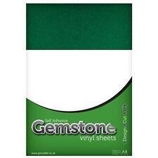 A4 Emerald Green GEMSTONE Glitter Adhesive Sheets Cameo 2 Portrait Curio