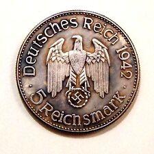 5 REICHS MARK 1942 / ADOLF HITLER / III REICH / GERMANY / WW - 2