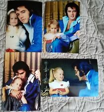 Elvis Presley Photo Set of 7 with Daughter Lisa Marie, 1960's-70s-NEW!
