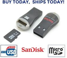 Micro SD to USB Memory Card Adapter Reader Dongle Thumb Drive Pen Supports