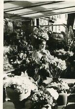 PHoto d'une jeune fleuriste au milieu des ses plantes et fleurs A identifier