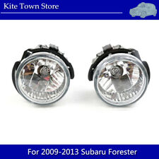 Pair Front Glass Lens Replacement Fog Light Lamp For 2009-2013 Subaru Forester