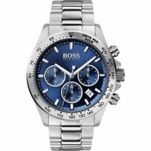 Hugo Boss Men's Hero Lux Blue Silver Chronograph Watch - HB1513755 - UK