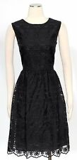 Tommy Hilfiger Black Dress Size 14 Cocktail Lace Shift Women's New*